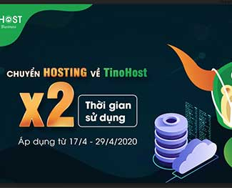 Tinohost giảm 30% và nhân đôi thời gian sử dụng hosting khi chuyển dữ liệu từ nơi khác