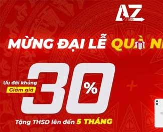 [Đại lễ 30/4] Azdigi giảm 30% và tặng thêm 2 tháng sử dụng dịch vụ