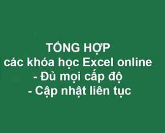Top khóa học excel online căn bản đến nâng cao, kế toán tài chính