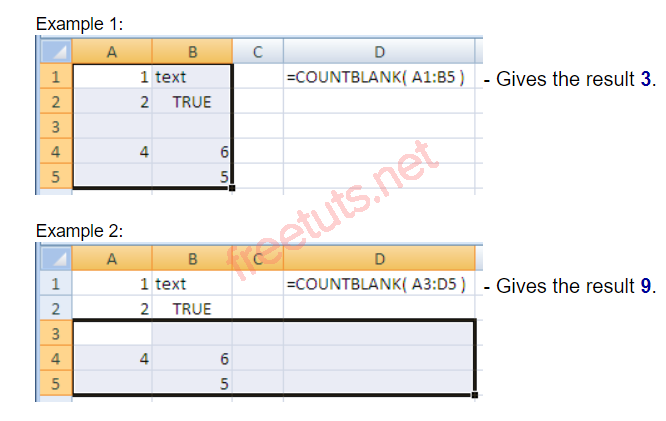 ham countblank trong excel PNG