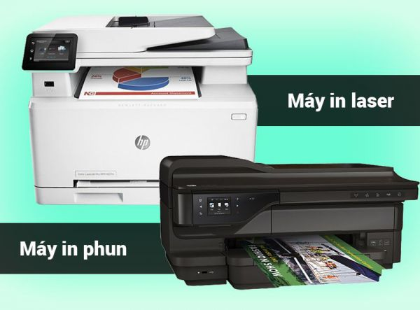 Nên mua máy in phun màu hay máy in laser