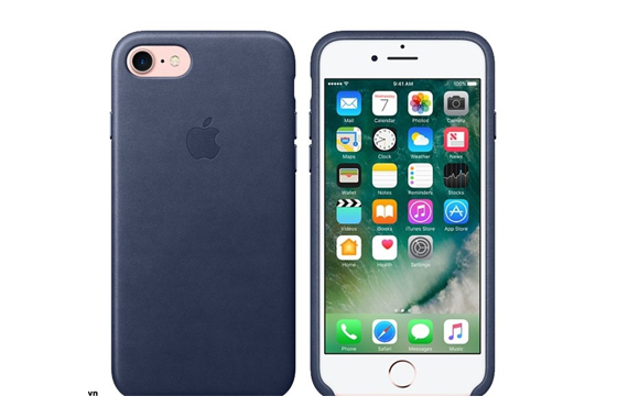 Ốp lưng iPhone 7/8 Leather Midnight Blue