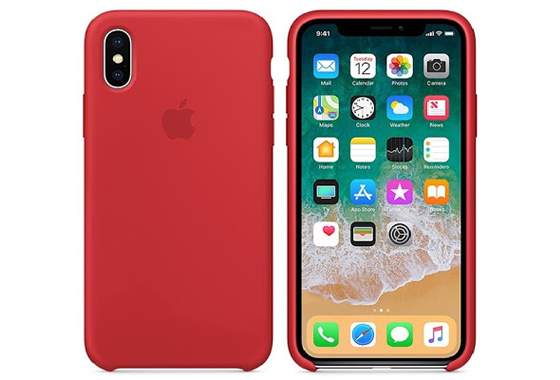 Ốp lưng iPhone X Silicon Red