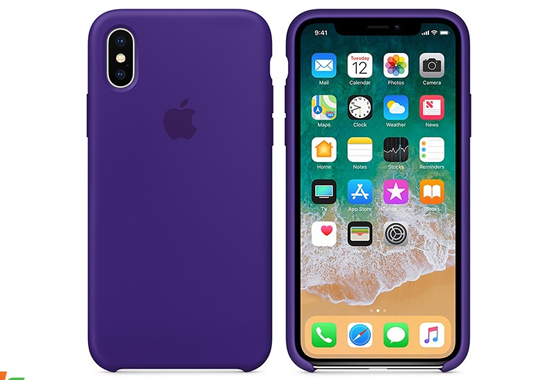 Ốp lưng iPhone X Silicon Ultra Violet