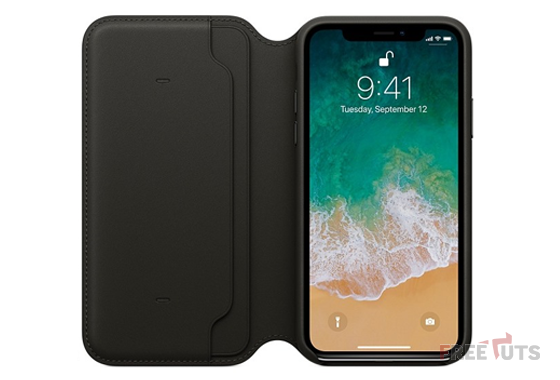 Bao da iPhone X Leather Folio