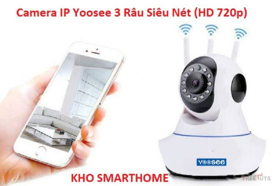 Camera IP Yoosee 3 Râu 1.3MP HD 720p