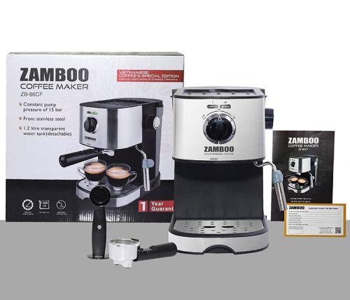 Máy Pha Cà Phê Espresso Zamboo ZB-86CF - 1.2L