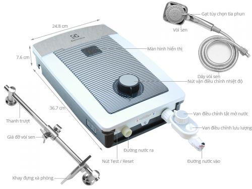 Máy nước nóng trực tiếp Electrolux EWE451TX-DCC2