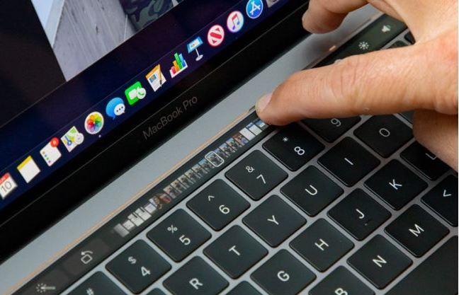 touch bar Macbook Pro Touch Bar 2019 JPG