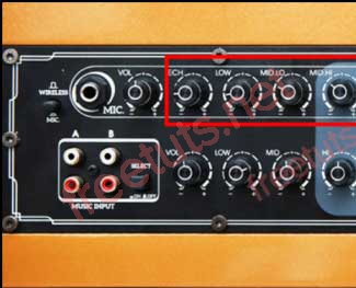 Ý nghĩa các nút điều chỉnh nhạc và âm thanh trên loa kéo