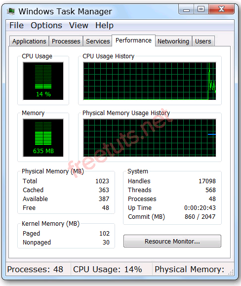Windows task manager 6 PNG