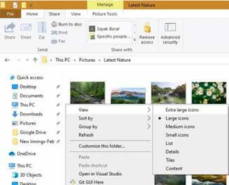 Cách đổi kích thước Icon trên Windows 10