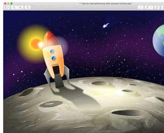 Cách xem file PSD trên Macbook mà không cần mở Photoshop