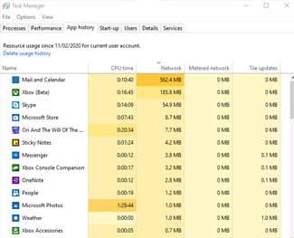Cách xem dữ liệu mạng đã dùng trên Windows 10 nhanh nhất