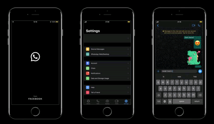 whatsapp dark mode PNG