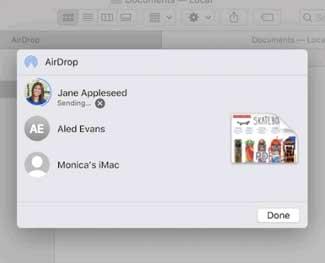 Cách bật airdrop trên macbook / iPhone / iPad