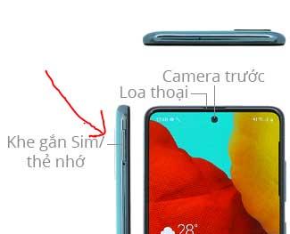 Cách lắp sim Samsung A51 và tháo sim - chụp hình video - tắt mở nguồn