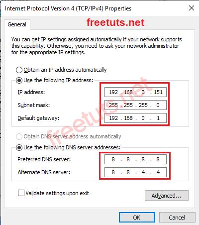 internet protocol version 4 settings png