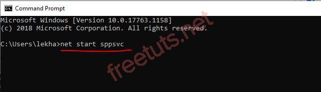 006 net start sppsvc command prompt JPG