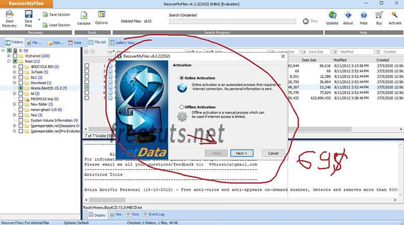 recovery my files using 6 jpg