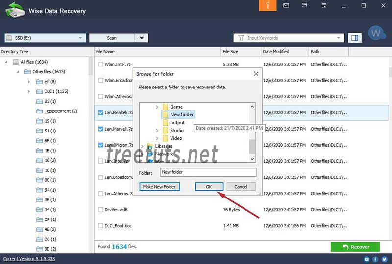 wise data recovery using 3 jpg