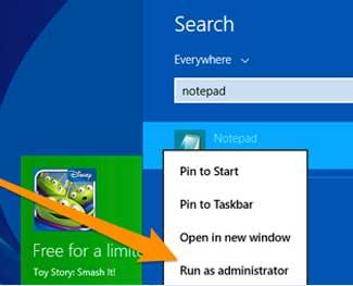 Cách mở file host với quyền Admin - Áp dụng mở các file hệ thống