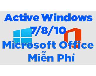 Hướng dẫn Active Windows 7/ 8 / 10 thành công 100%
