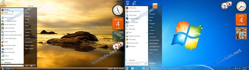 lich su menu start windows vista win7 jpg