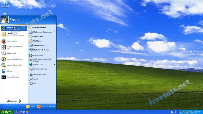 lich su menu start windows xp jpg