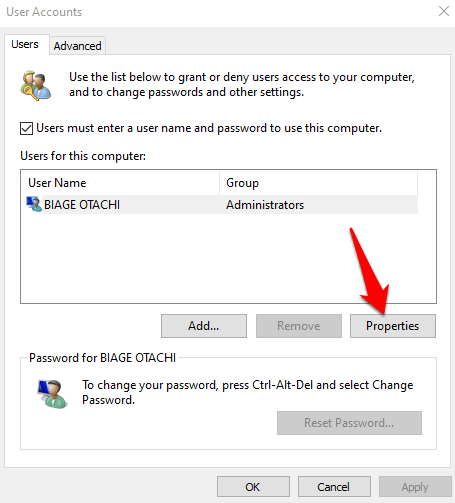 17 you need permission perform this action error users this computer properties png