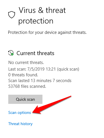 7 you need permission perform this action error malware scan scan options png