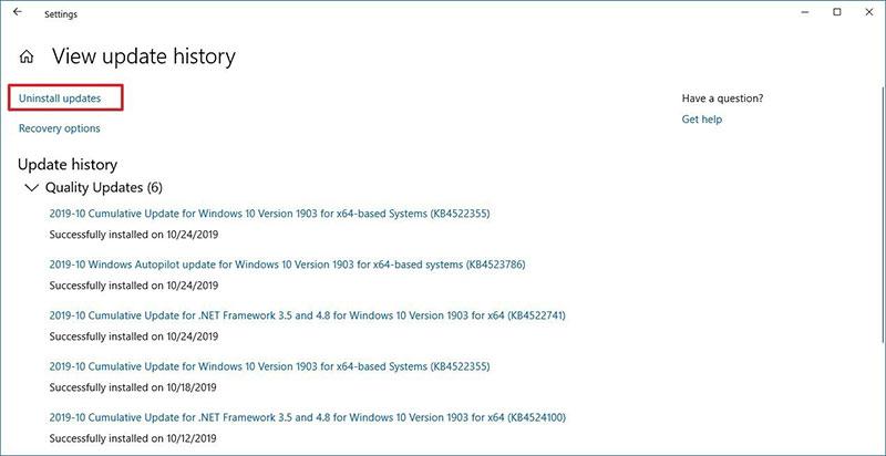 24 uninstall updates option windows 10 jpg