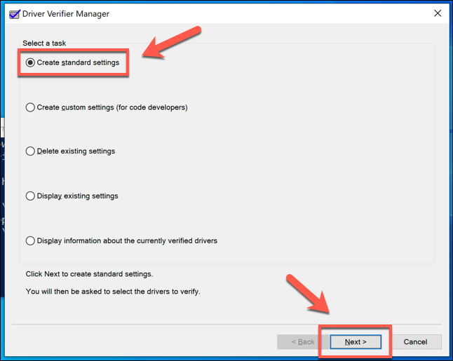 2 Driver Verifier First Stage png