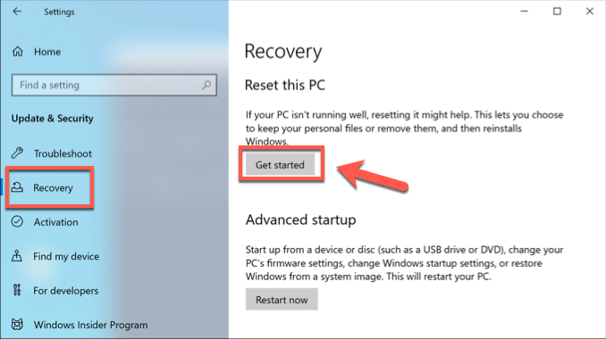 9 Windows Reset Launch png