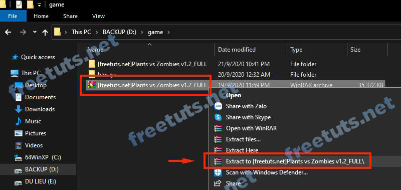 setup plants vs zombies 1 jpg