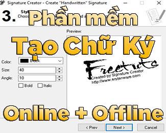 Tổng hợp phần mềm tạo chữ ký Online và Offline siêu đẹp