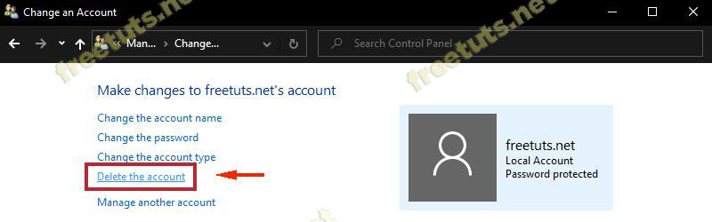 cach xoa tai khoan user tren windows 8 jpg