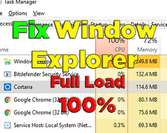 Fix lỗi Window Explorer chiếm nhiều CPU và RAM trên Win 10