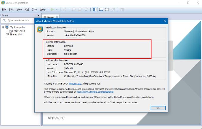 cai win7 tren may ao VMware 13 png