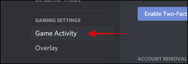 Game Activity Under Game Settings png