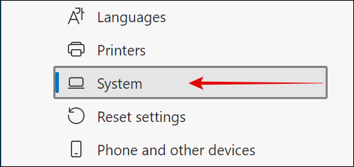 System in Microsoft Edge Settings png