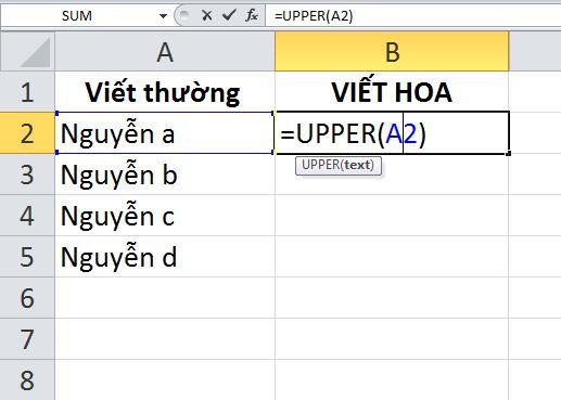 chuyen doi chu thuong thanh chu in hoa trong word excel 10 JPG
