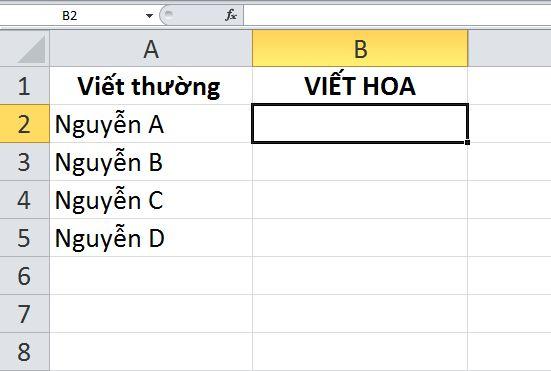 chuyen doi chu thuong thanh chu in hoa trong word excel 9 JPG