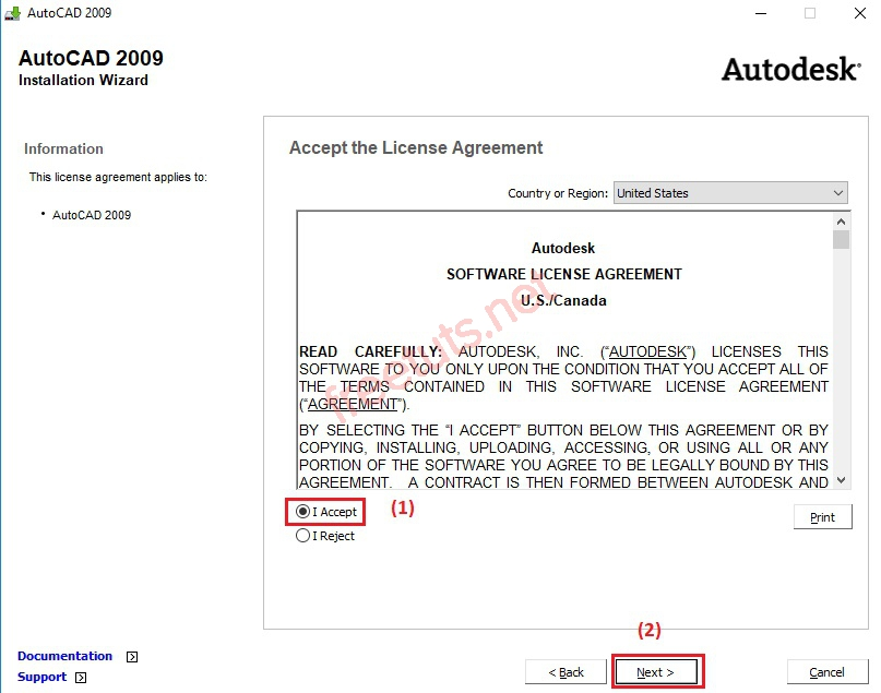 download autocad 2009 full 32bit 64bit full huong dan cai dat 6 jpg