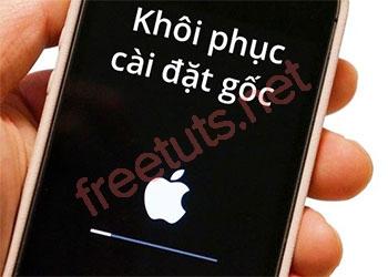 Cách khôi phục cài đặt gốc (reset) điện thoại iPhone AZ
