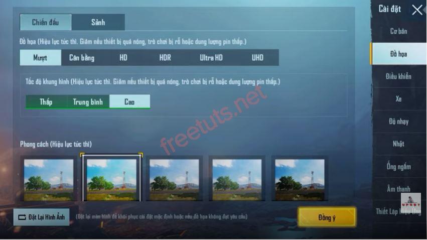 cach cau hinh chuan game pupg mobile 7 JPG