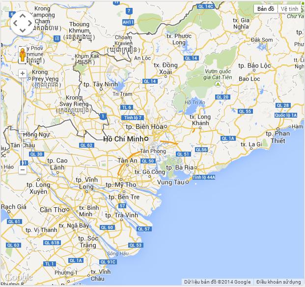Viết ứng dụng google map hiển thị bản đồ thành phố hồ chí minh