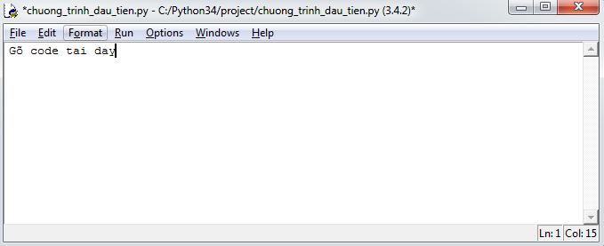 new file python