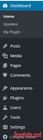 admin menu list png