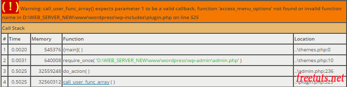 missing callback function menu page png